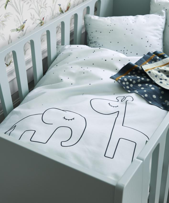 Done By Deer Bedset junior 100 x 140cm Dreamy dots Blue