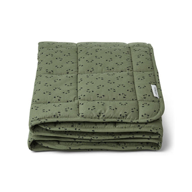 Liewood Ebbe Quilted Blanket | Panda Hunter Green