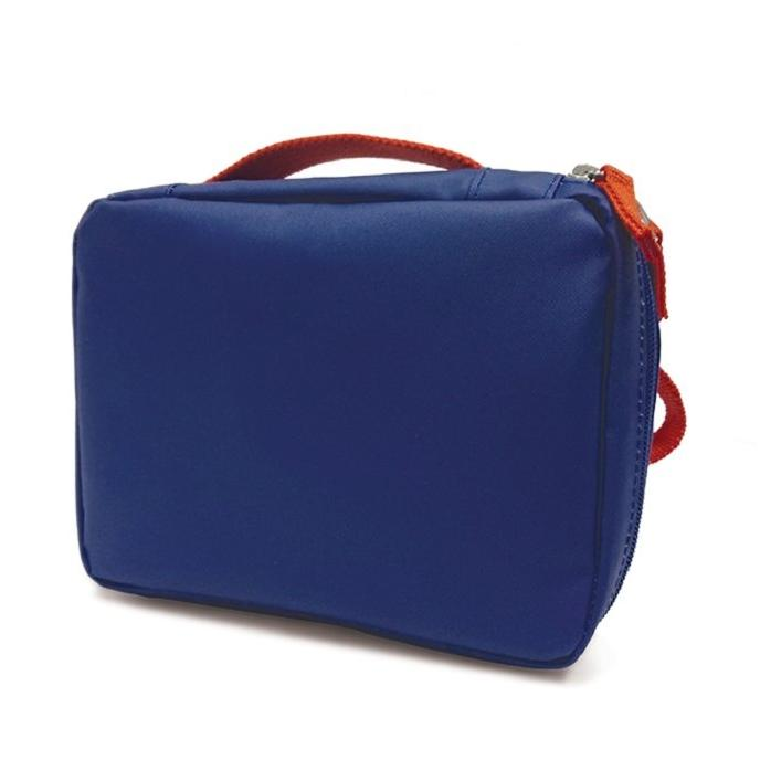 Ekobo - lunchtas gerecycleerde PET flessen - Royal Blue/Persimmon