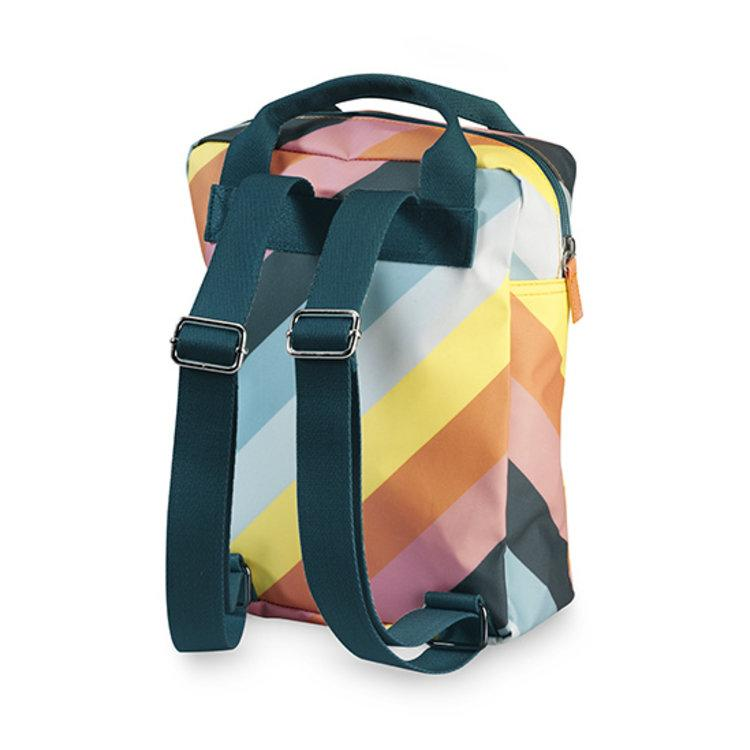 Engel. Rugzak Small | Zipper Stripe Rainbow