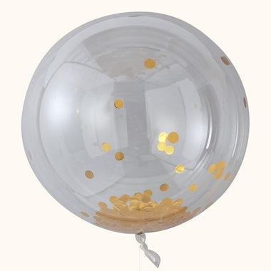 Ginger Ray Set 3 XL confetti ballon - Gold