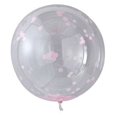 Ginger Ray Set 3 XL confetti ballon - Pink
