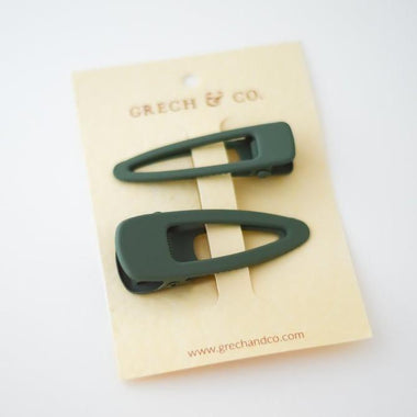 Grech & Co Matte Clips Set van 2 | Fern