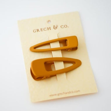 Grech & Co Matte Clips Set van 2 | Golden