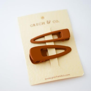 Grech & Co Matte Clips Set van 2 | Spice