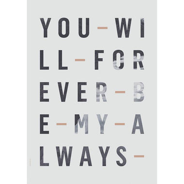 I love my type poster A3 - Forever Always - Blue