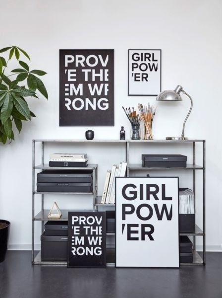 I love my type poster 50x70cm - Girl Power white