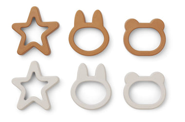 Liewood Andy Cookie Cutter 6st | Mustard Mix