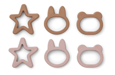 Liewood Andy Cookie Cutter 6st | Rose Mix