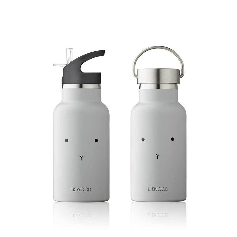 Liewood Anker thermische drinkfles met handige drinktuit - Rabbit dumbo grey
