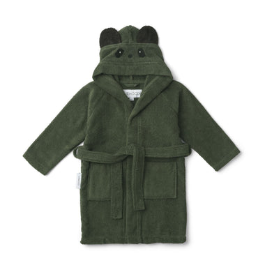 Liewood Lily Bathrobe | Panda Hunter Green