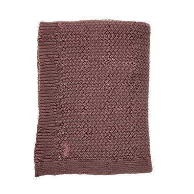Mies & co Soft Knitted Blanket 80x100cm | Rosewood