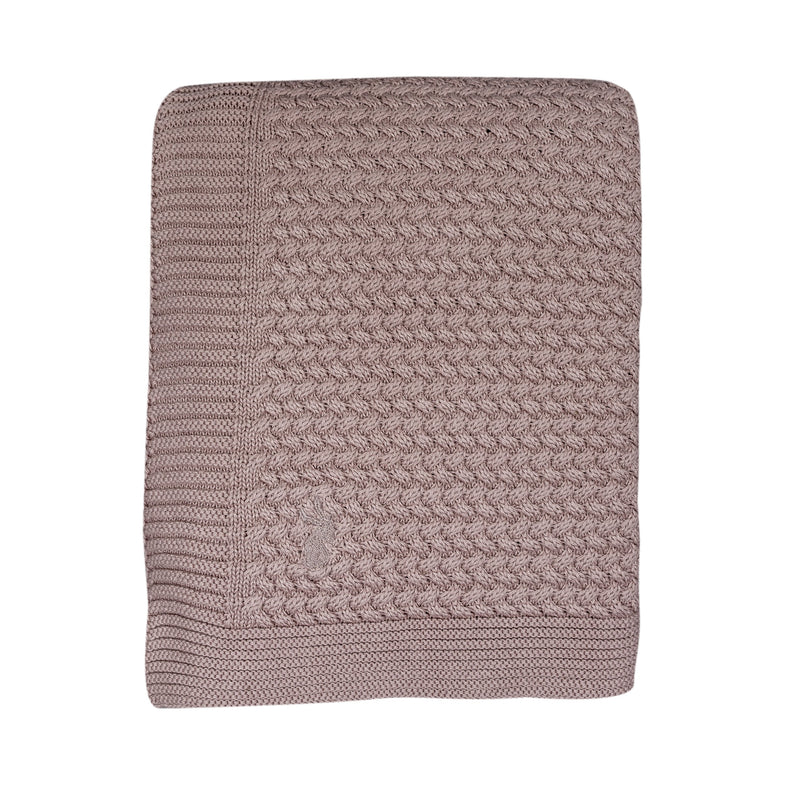 Mies & co Soft Knitted Blanket 110x140cm Pale Pink