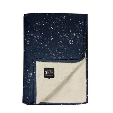 Mies & co teddy dekentje 70x100cm Galaxy parisian night