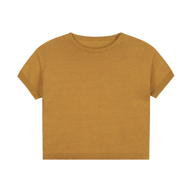 Daily Brat Mini Knitted T-shirt | Sandstone