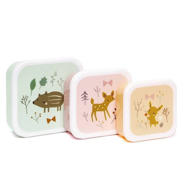 Petit Monkey Set 3 snack boxen Forest Friends