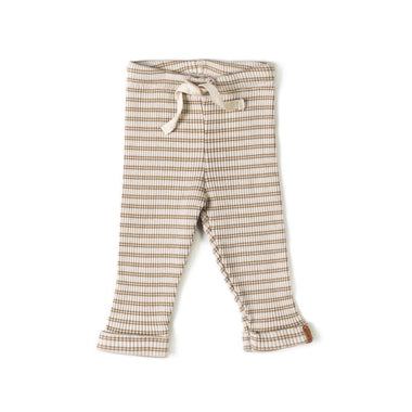 Nixnut Rib Legging | Stripe Biscuit Dust
