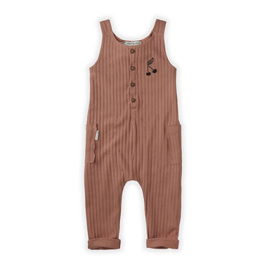Sproet & Sprout Jumpsuit | Rib Cherry