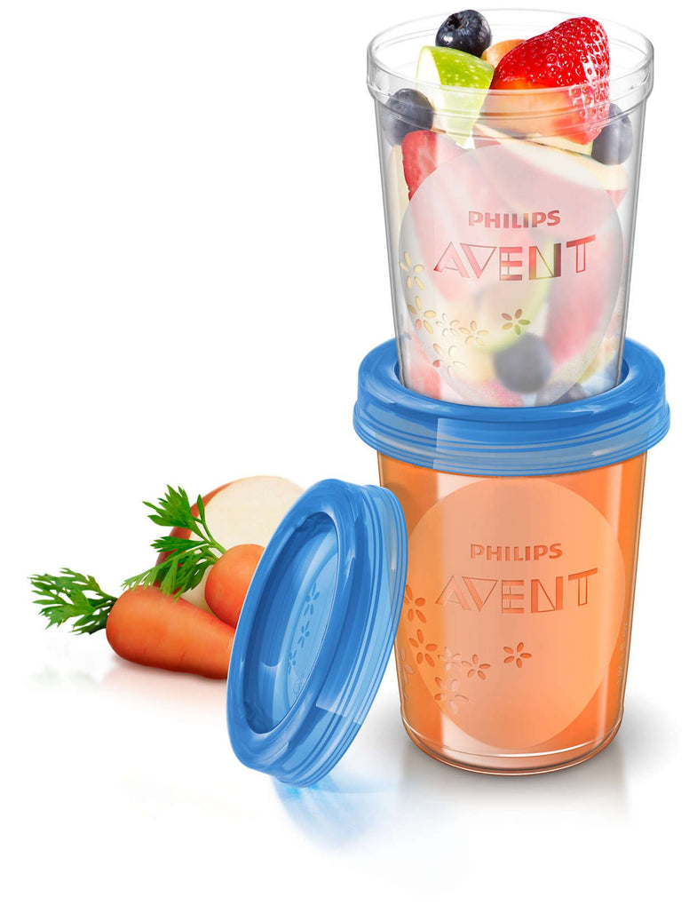 Avent VIA Naturel set Voedingsbekers 240ml - DE GELE FLAMINGO - Kids concept store