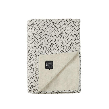 Mies & co teddy dekentje 70x100cm Cosy dots off white
