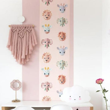 Studio Ditte Behangpapier | Wild animals pink