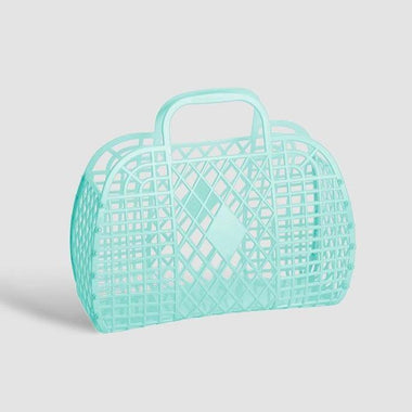 Sunjellies Retro Basket Small - Mint