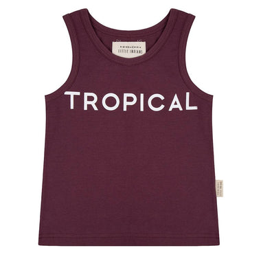 Little Indians Tanktop Tropical | Eggplant