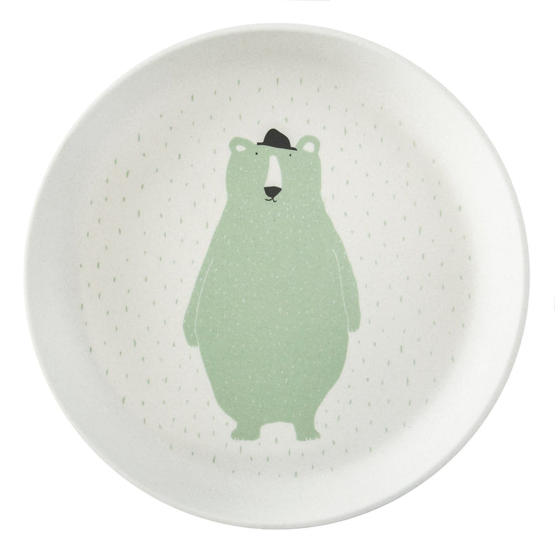 Trixie bamboo bord - Mr Polar Bear