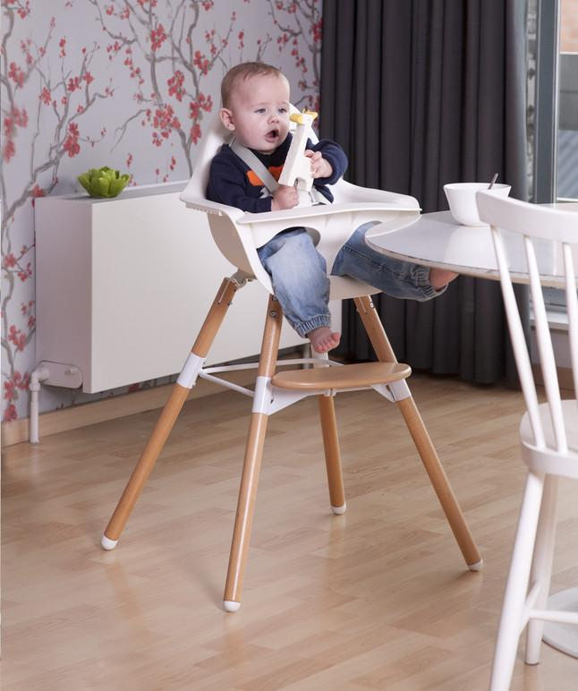 Childwood EVOLU2 meegroeistoel Antraciet/natural 2 in 1 + beugel - DE GELE FLAMINGO - 5