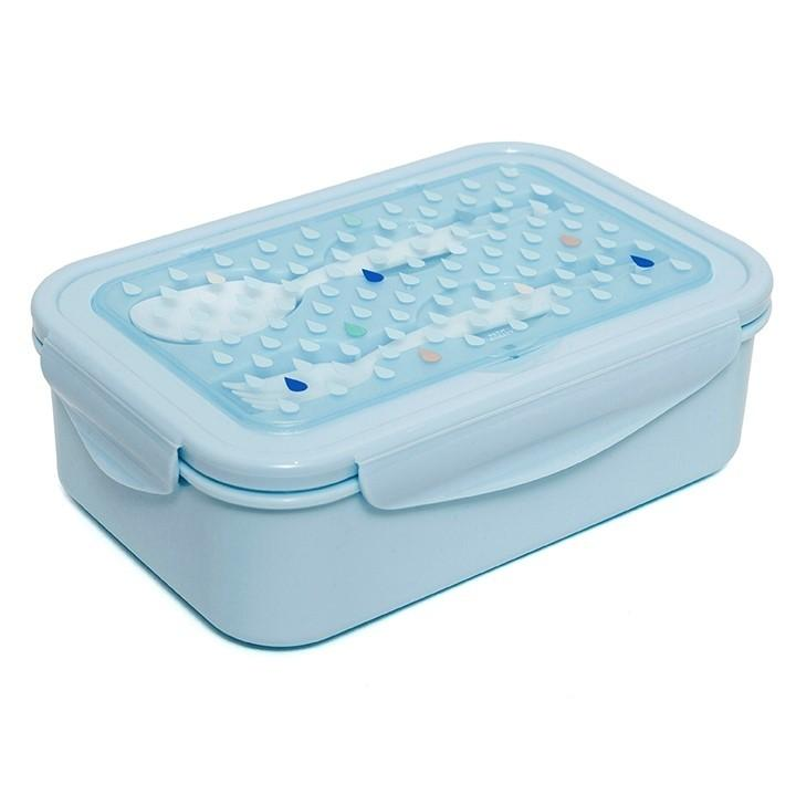 Petit Monkey Handige bento lunchbox - Drops blue