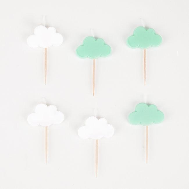 Set 8 kaarsjes Clouds - DE GELE FLAMINGO - Kids concept store