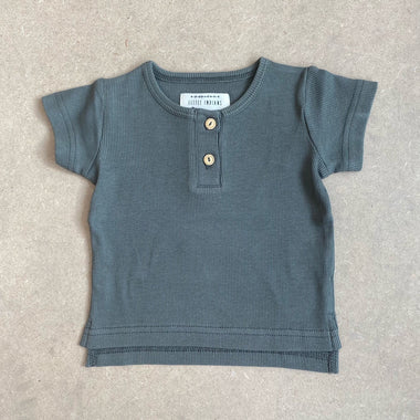 Little Indians Rib T-shirt | Dusty Olive