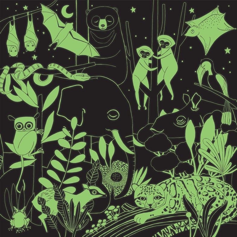 Mudpuppy Glow In The Dark Puzzel 500st - Jungle Illuminated