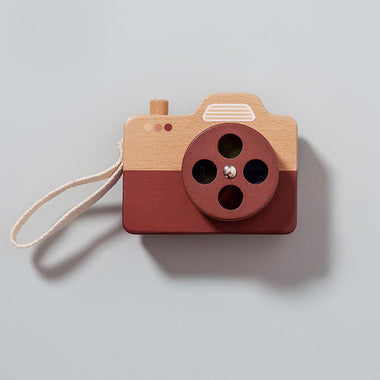 Petit Monkey Houten Fotocamera Brown