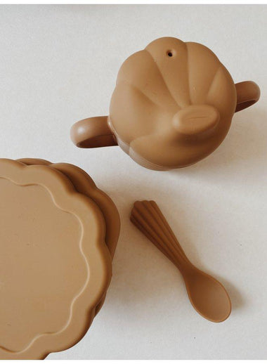 Konges Sløjd Silicone Eetset Baby Clam | Terracotta