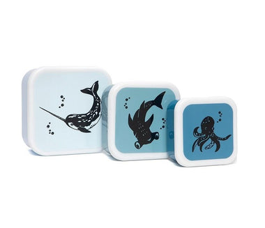 Petit Monkey Set 3 snack boxen | Sea Animals