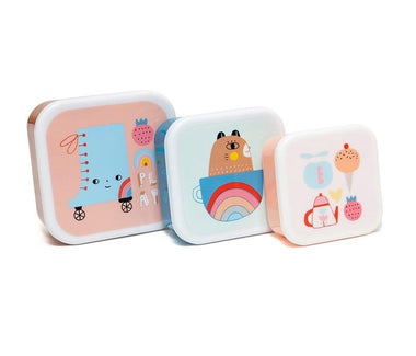 Petit Monkey Set 3 snack boxen Skate Boot