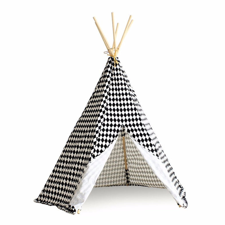 Nobodinoz tipi large Black diamonds - DE GELE FLAMINGO - 1