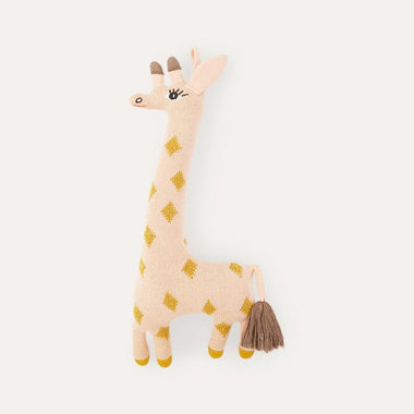 OYOY Living Knuffel Darling Cushion Guggi Giraffe Rose