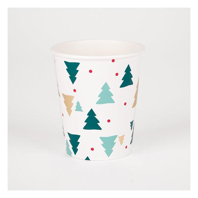 Set 8 kartonnen bordjes christmas trees - DE GELE FLAMINGO - 4