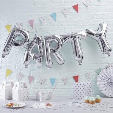 PARTY Xl folie ballon zilver