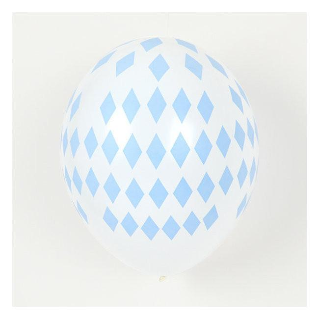 Set 5 ballonnen diamond blue - DE GELE FLAMINGO