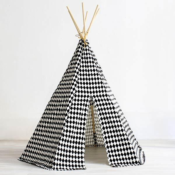 Nobodinoz tipi large Black diamonds - DE GELE FLAMINGO - 2