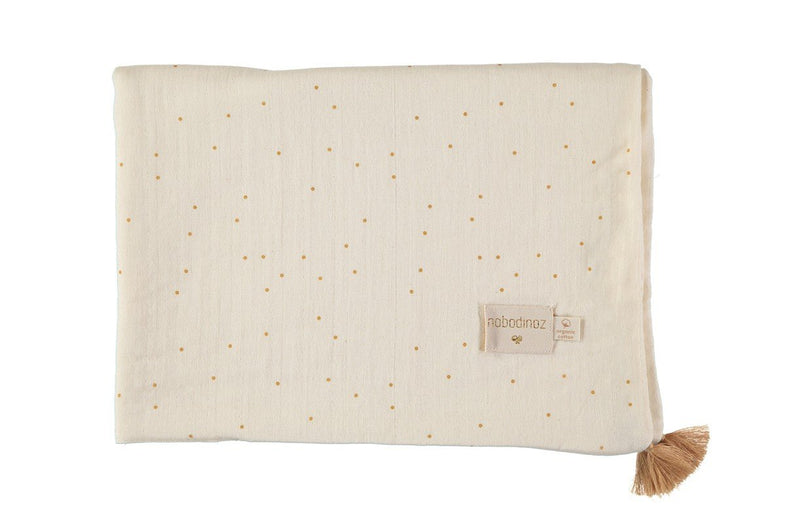 Nobodinoz dekentje 100x70cm Treasure summer blanket - Honey Sweet Dots
