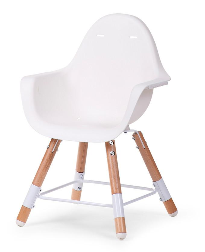 Childwood EVOLU2 meegroeistoel Naturel/wit 2 in 1 + beugel - DE GELE FLAMINGO - Kids concept store