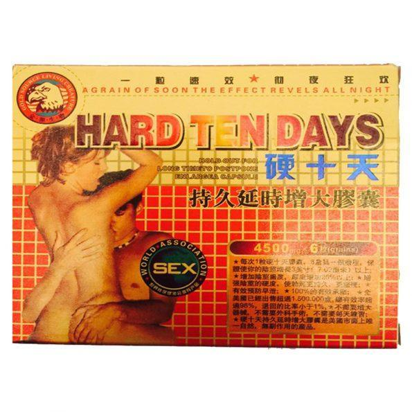 Hard Ten Days Herbal Enhancement Capsules 4500 mg X 6 Pills Per Box - RealDealPacks