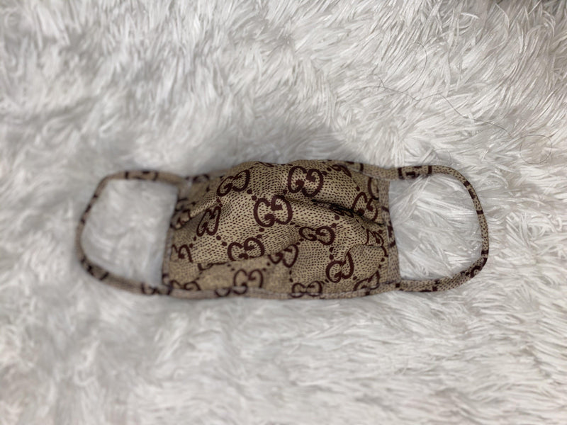 GG Gucci and FF Fendi Inspired designer mask custom face cover - RealDealPacks