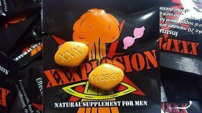 EXPLOSION XXXPlosion Male Enhancement Sex Pills Capsules Orange Tablets 10-200 Pills - RealDealPacks