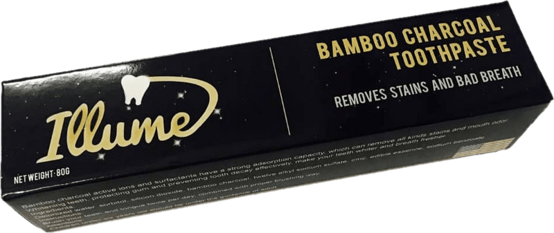 Organic Bamboo Charcoal Toothpaste / Natural Teeth Whitening Remove Stains & Bad Breath Plaque - RealDealPacks