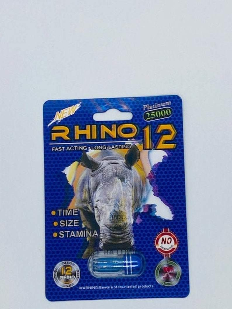 Rhino 12 15000 Male Enhancment- 24 Packs Per Box - RealDealPacks